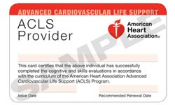 AHA ACLS Provider Card - All Care Health Services of Orlando, Florida