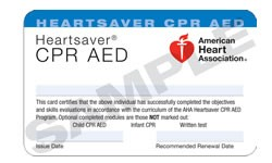 Heartsaver CPR & AED AHA certification classes in Orlando www.allcarecpr.com