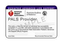 AHA Pediatric Advanced Life Support (PALS) - All Care Health Services of Orlando